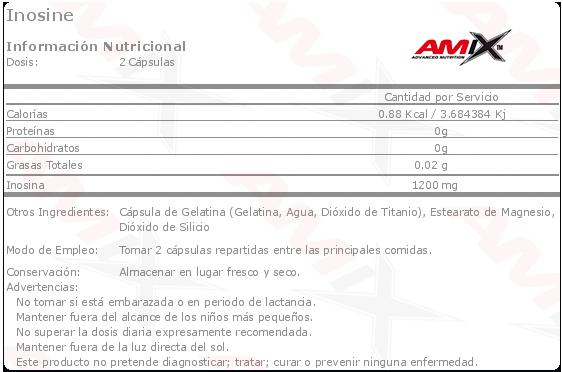 Etiqueta Amix Inosine
