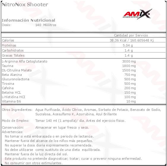 Etiqueta Amix NitroNox