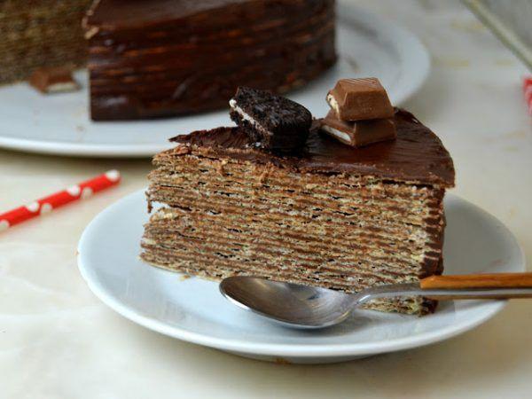 Tarta de Chocolate y obleas ¡La tarta de chocolate más fácil del mundo!