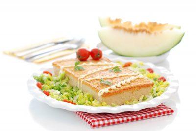 pastel de verduras y atun