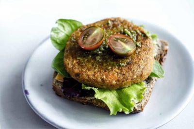 hamburguesa vegana de calabaza