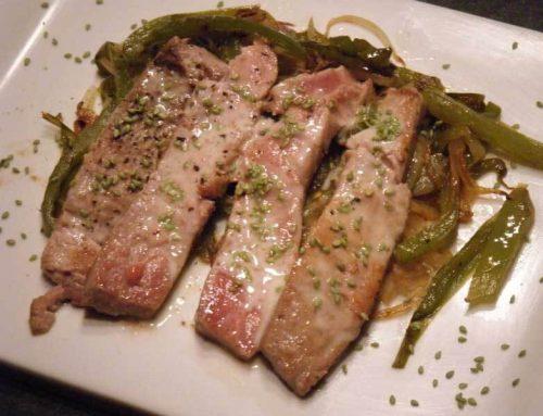 Tataki de atún al aroma de Wasabi