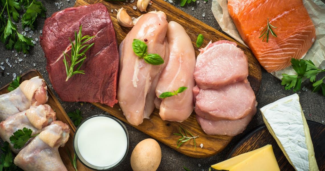 Variedad alimento proteicos